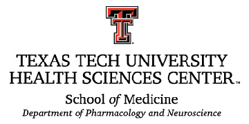 Texas Tech University Health Sciences Center, Dept. of Pharmacology and Neuroscience, School of Medicine logo